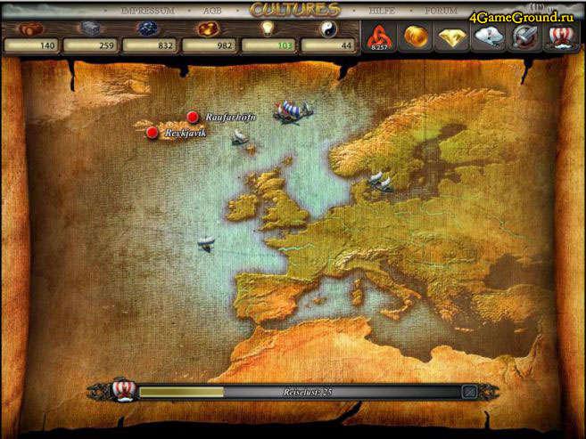 Cultures online игра про викингов