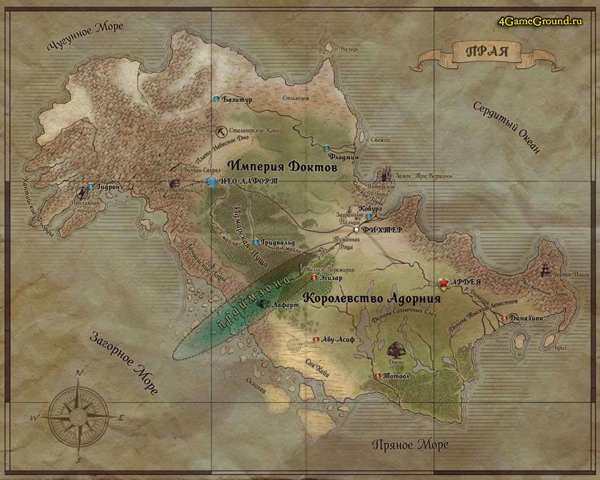 Мир Прайма Прая карта