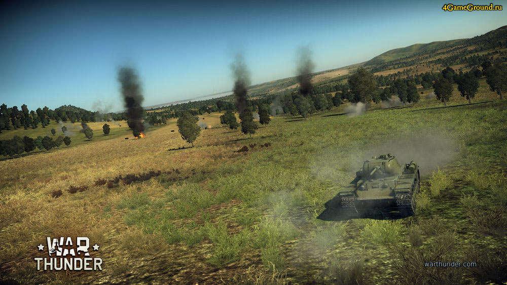 War Thunder - советский танк КВ-1 готов к атаке