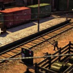 Jagged Alliance Online - перестрелка на железной дороге