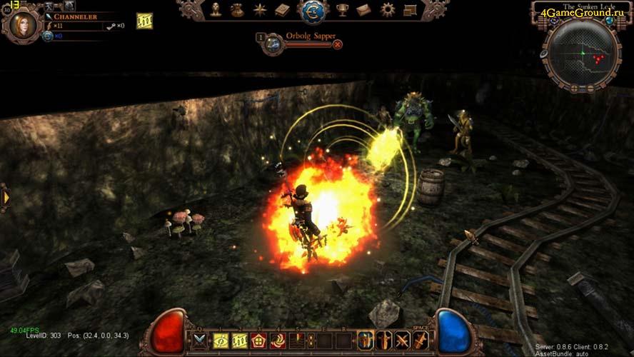City of Steam - битва в шахте