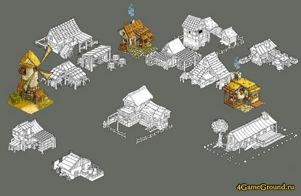 Выбор строений