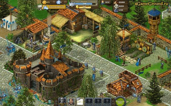Рыцари: Битва Героев - поселение развивается