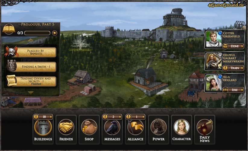 Город и замок в Играх Престолов