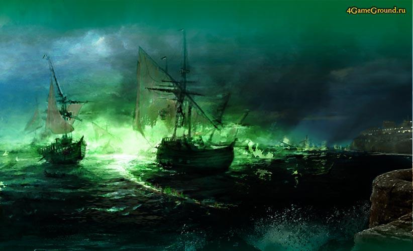Ночное нападение на город с моря