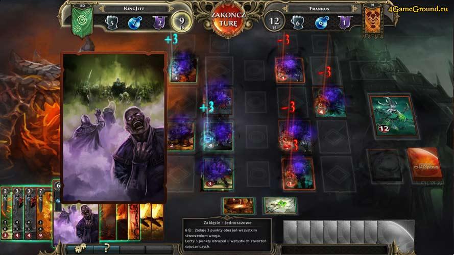 Разгар сражения в Might & Magic: Duel of Champions