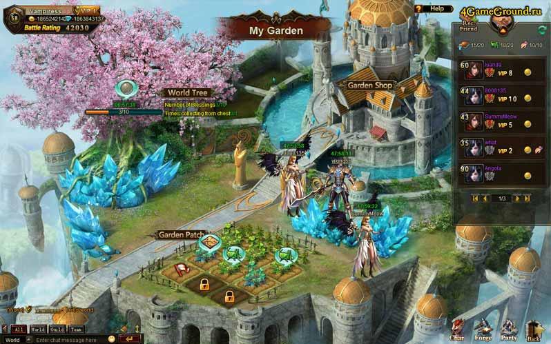 Красочный мир League of Angels