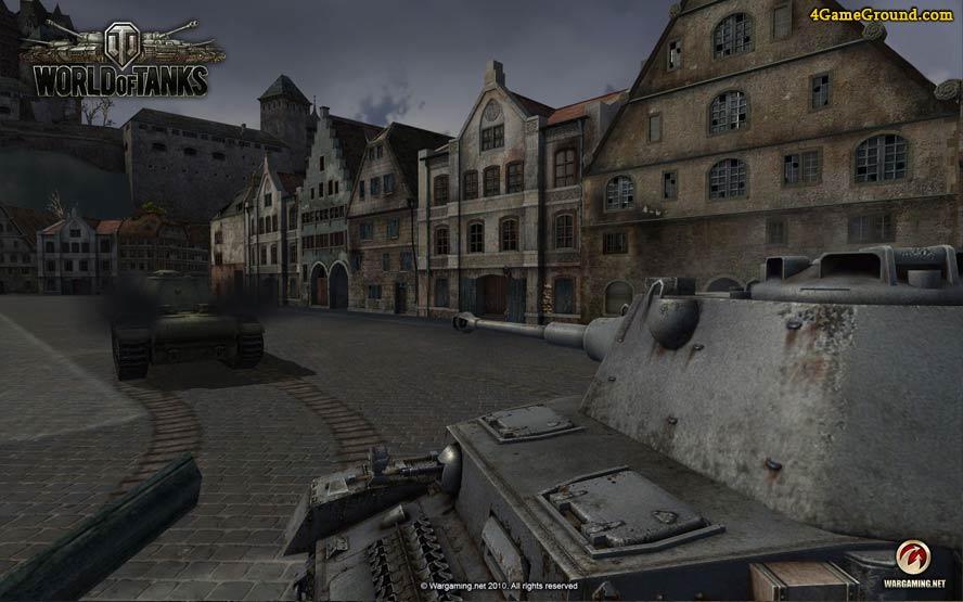 World of Tanks - битва в городе