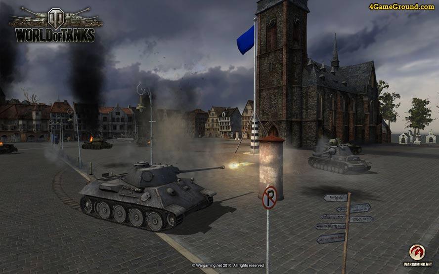 World of Tanks - захват города