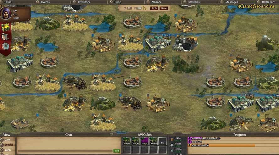 Alliance Warfare - соседние поселения