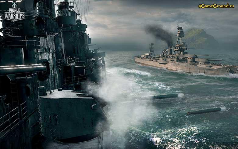 World of Warships - пуск торпеды