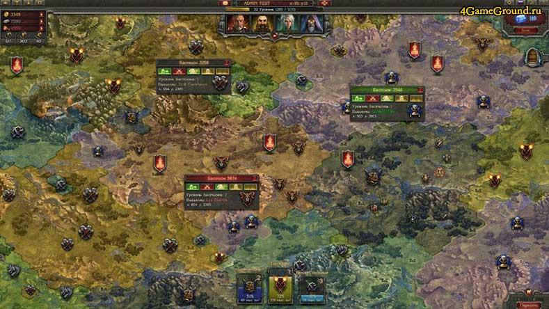 Войны Престолов - карта мира