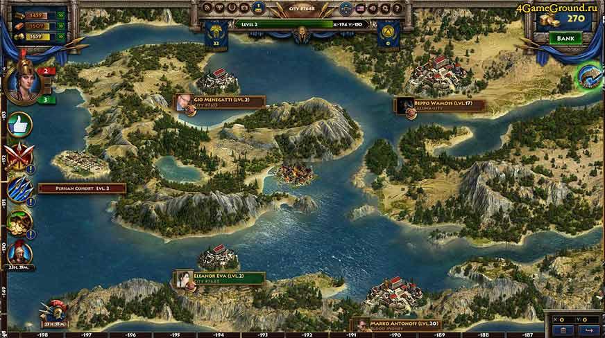 Спарта: Война Империй - игровой мир