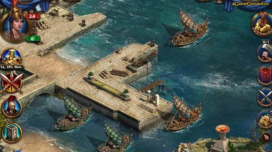 Спарта: Война Империй - торговые корабли в порту