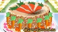 Украшаем торт морковками!