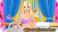 Помоги Барби в спа салоне