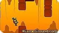 Летучая мышь выбирается из пещеры.