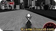 Стикмен гоняет на мотоцикле.