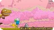 Игра Побег от динозавра
