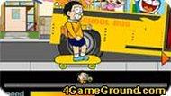 Дораэмон догоняет автобус