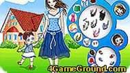 Игра Одевалка мамы и дочки