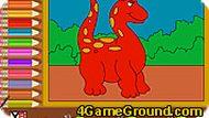 Игра Динозавр раскраска