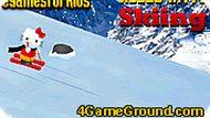 Хелло Китти: лыжный спуск
