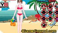 Майли Сайрус на пляже