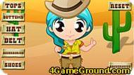 Девочка на ранчо