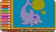 Дельфин: раскраска