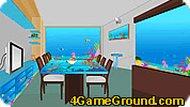 Комната с аквариумами