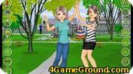 Подруги в парке