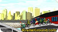 Игра Черепашки-ниндзя на гонках