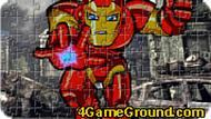 Игра Железный Человек: пазл