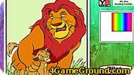 Игра Король Лев раскраска