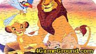 Игра Пазл с Королём Львом