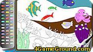 Игра Подводная раскраска
