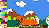 Игра Раскраска тигра