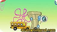 Игра Губка Боб и автобус