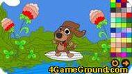 Игра Раскраска собаки