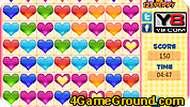 Игра Цветные сердца
