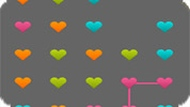 Игра Разноцветные сердечки