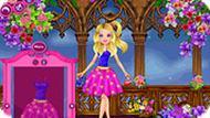 Игра Барби в платье