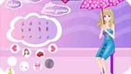 Игра Одевалка в дождь