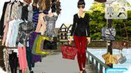 Игра Одевалка на прогулку в городке