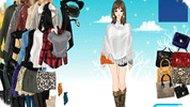 Игра Зима: одевалка