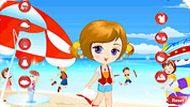 Игра Одевалка у моря