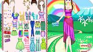 Игра Одевалка радуга