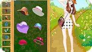 Игра Одевалка: весенняя девочка