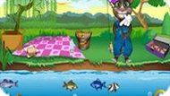 Игра Говорящий Том: рыбалка